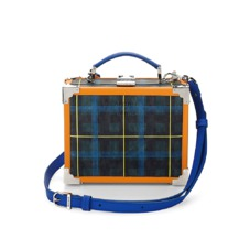 Aspinal x être cécile Mini Trunk Clutch in Forest Green Plaid. Handbags & Clutches from Aspinal of London