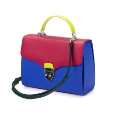 Aspinal x être cécile Mayfair Bag in Cobalt Blue & Deep Fuchsia. Evening & Clutches from Aspinal of London