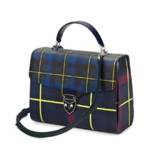 Aspinal x être cécile Mayfair Bag in Navy Plaid. Evening & Clutches from Aspinal of London