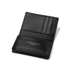 Marylebone Credit Card Holder in Monochrome Mix. Business & Credit Card Holders from Aspinal of London