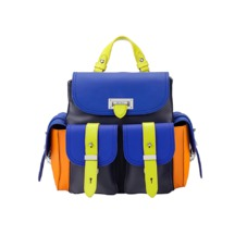 Aspinal x être cécile Mini Letterbox Rucksack in Cobalt Blue. Handbags & Clutches from Aspinal of London