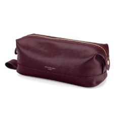 Men's Leather Wash Bag in Burgundy Saffiano. Mens Toiletry & Wash Bags from Aspinal of London