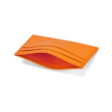 Slim Credit Card Case in Smooth Amber. Business & Credit Card Holders from Aspinal of London