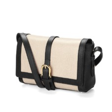 Mini Shoulder Buckle Bag in Monochrome Mix. Handbags & Clutches from Aspinal of London