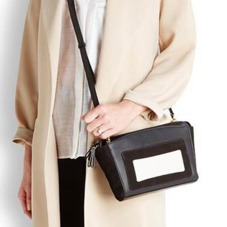 Marylebone Oversized Day Clutch in Black Pebble. Evening & Clutches from Aspinal of London