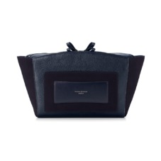Marylebone Oversized Day Clutch in Navy Pebble. Handbags & Clutches from Aspinal of London