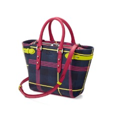 Aspinal x être cécile Marylebone Mini Tote in Navy Plaid. Handbags & Clutches from Aspinal of London