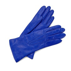 Ladies Cashmere Lined Leather Gloves in Cobalt Blue. Ladies Cashmere Lined Leather Gloves from Aspinal of London