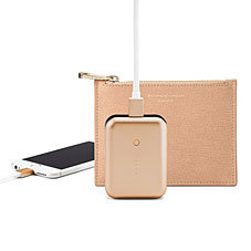USB Battery Charger Pack with Leather Pouch. iPhone & iPad Cases from Aspinal of London