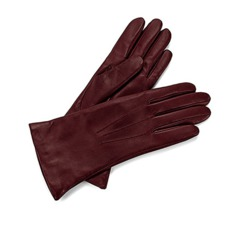 Ladies Cashmere Lined Leather Gloves in Burgundy. Ladies Cashmere Lined Leather Gloves from Aspinal of London