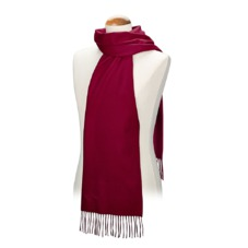 Pure Cashmere Scarf in Deep Fuchsia. Ladies Cashmere Scarves from Aspinal of London