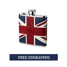 Brit Leather Hip Flask. Leather Hip Flasks from Aspinal of London