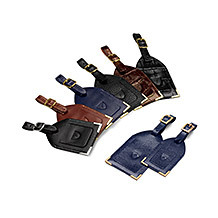 Leather Luggage Tags. Luxury Travel Accessories from Aspinal of London