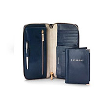 Zipped Travel Wallet with Passport Cover. Luxury Travel Accessories from Aspinal of London