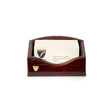 Business Card Holder. Leather Desk Accessories from Aspinal of London