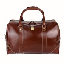 Weekender Travel Bag in Smooth Cognac. Mens Travel Bags from Aspinal of London