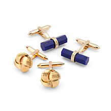 Gold Cufflinks. Sterling Silver, Gold & Enamel Cufflinks from Aspinal of London