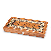 "22"" Wooden Backgammon Set. Luxury Games from Aspinal of London"