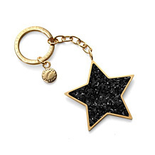 Glitter Star Key Ring. Key Rings & Charms from Aspinal of London