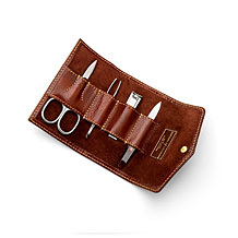 Mens Manicure Set. Luxury Travel Accessories from Aspinal of London