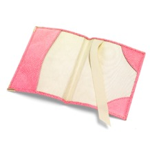 Plain Passport Cover in Pink Lizard. Leather Passport Covers from Aspinal of London