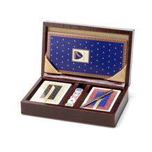 Bridge Set in Leather Case. Luxury Games from Aspinal of London
