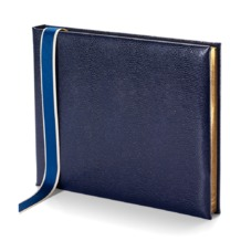 Lizard Print Guest Book in Navy Lizard. Guest & Visitors Books from Aspinal of London