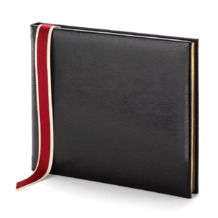 Lizard Print Guest Book in Black Lizard. Guest & Visitors Books from Aspinal of London