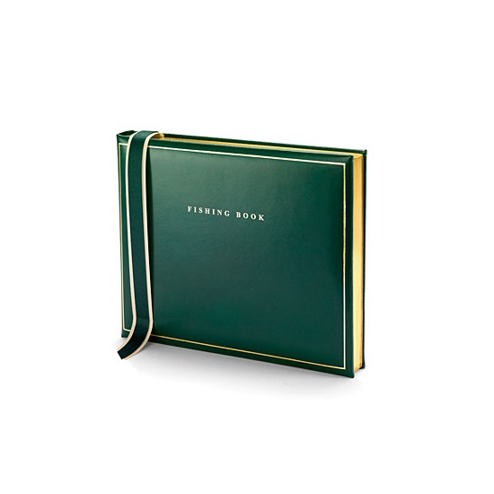 Classic Fishing Book in British Racing Green from Aspinal of London
