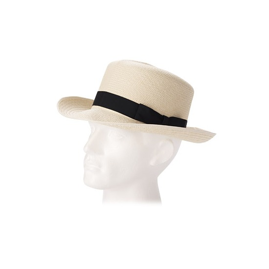 Foldable Panama Hat with Black Ribbon from Aspinal of London