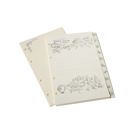 Recipe Binder Page Refills (25 sheets) from Aspinal of London