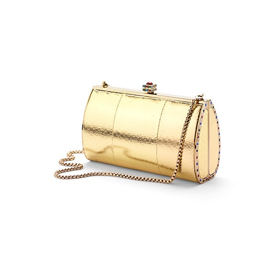 Aspinal Swarovski Clutch in Gold Sea Snake from Aspinal of London