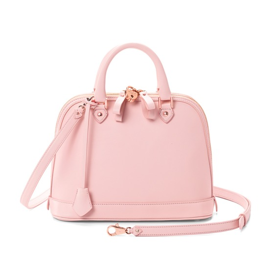 Mini Hepburn Bag in Smooth Blush Pink from Aspinal of London