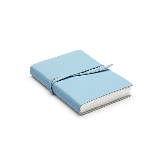 Pastel Pocket Notebook in Pastel Blue Calf from Aspinal of London