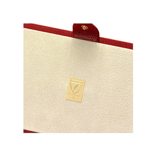 Paris Jewellery Box in Red Lizard & Cream Suede from Aspinal of London