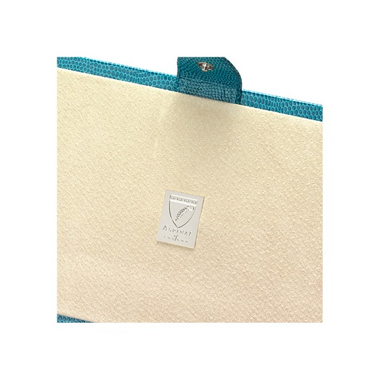 Paris Jewellery Box in Turquoise Lizard & Cream Suede from Aspinal of London