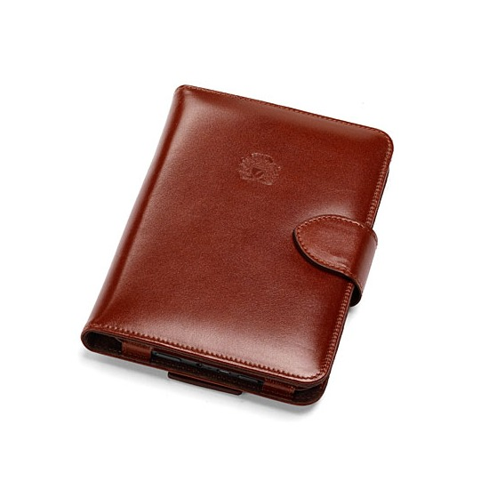 Leather Kindle Keyboard Case & Stand in Smooth Cognac & Espresso Suede from Aspinal of London