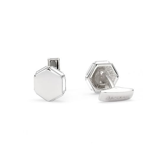 Crystal Hexagon Cufflinks with SWAROVSKI ELEMENTS from Aspinal of London