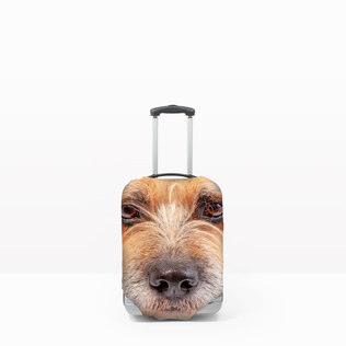 Pet Head Case - Personalised Pet Luggage Cover (S - (Cases 45-56cm tall))