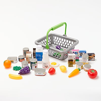 John Lewis & Partners Basket and Play Food