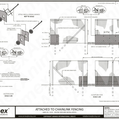 Animex Wildlife Fencing Attached To Exisiting Fence Amx 40 1015