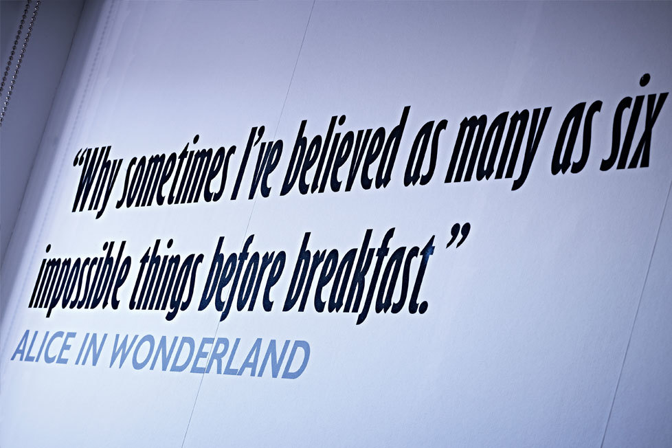 Wall quote
