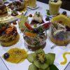 Assiettes menu dégustation végétale et crue