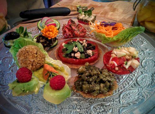 assiette-tapas dégustation végétale et crue