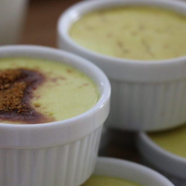 Crème catalane végétale et crue