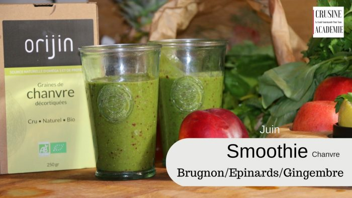 Smoothie-brugnon- chanvre protéines et vitamines