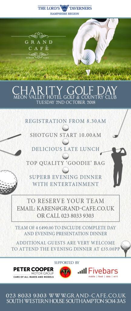 Grand Cafe Charity Golf Day Eshot 2018