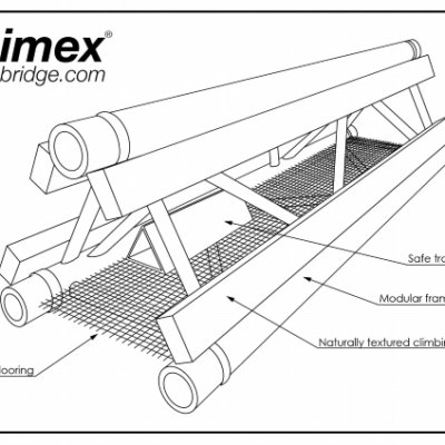 Animex Bridge Cross Section Wildlife Bridge Dormouse Mitigation