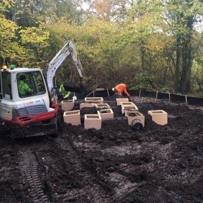 Burying Artifical Sett Badger Mitigation
