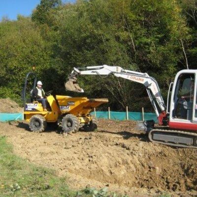 Digging Wildlife Pond Habitat Creation